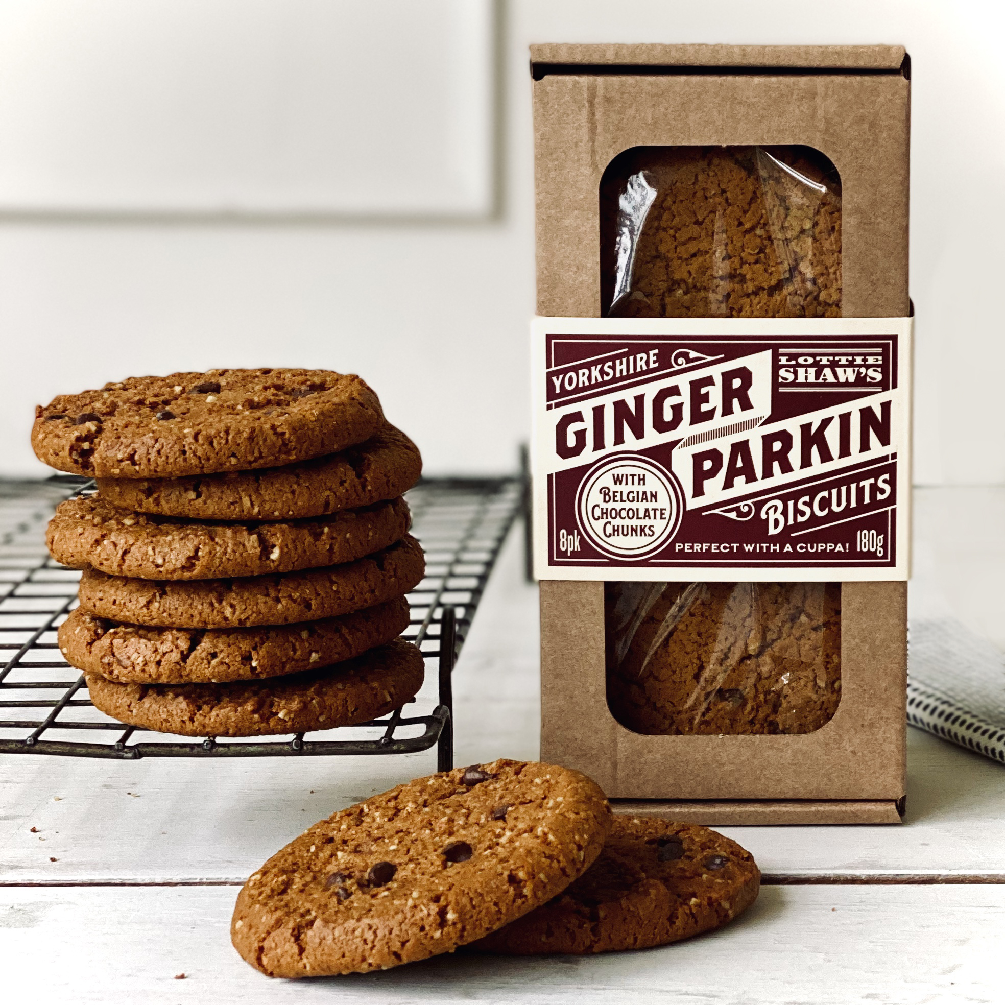 Lottie Shaw's Ginger Parkin with Belgian Chocolate Chunk Biscuits